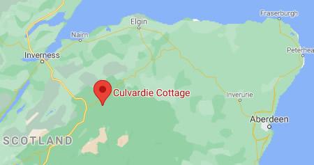 Culvardie Cottage Location Map